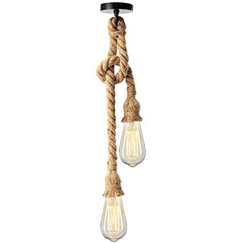 Vintage Seil Pendelleuchten Industrie Pendelleuchte Für Restaurant Kaffee Bar E27 Lampenschirm (Birne Nicht Enthalten) -
