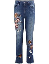 Promod Raw Cut Jeans mit Stickerei