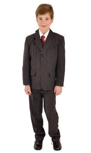 5 teiliger Kinderanzug Kommunionsanzug Anzug braun mit Nadelstreifen, Grösse Bekleidung:146/152;Farbe:Braun (Nadelstreifen-anzug)