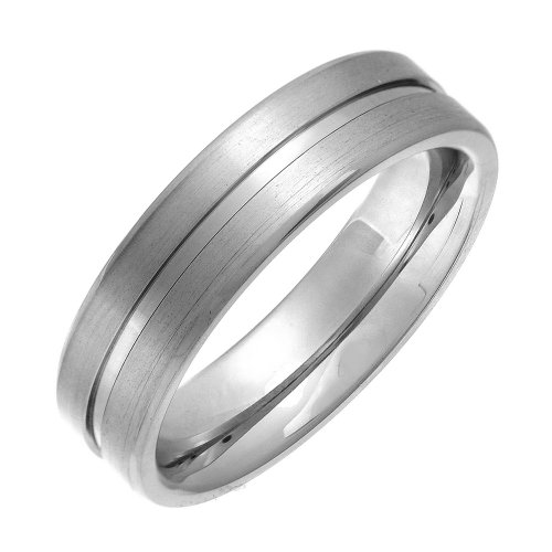 Theia Unisex-Ring Titan Flach Court Matt gerillt 6mm - Gr. 63 (20.1) TH2897 (Herren Titan Fashion-ringe)