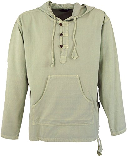 Guru-Shop Ethno Sweatshirt Goa Hippie, Herren, Natur, Baumwolle, Size:XL, Sweatshirts & Hoodies Alternative Bekleidung
