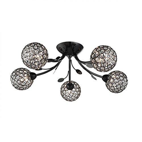 Bellis Ii 5 Lamp Flush Ceiling Light - Searchlight 6575-5BC (Belle Flush)
