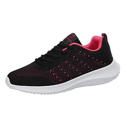 DAIFINEY Damen Sneakers Walkingschuhe Leichte Atmungsaktiv Freizeitschuhe Outdoor Gym Bequem Turnschuhe Laufschuhe Sportschuhe Wanderschuhe Mesh-Bequeme Schuhe(Schwarz/Black,38)