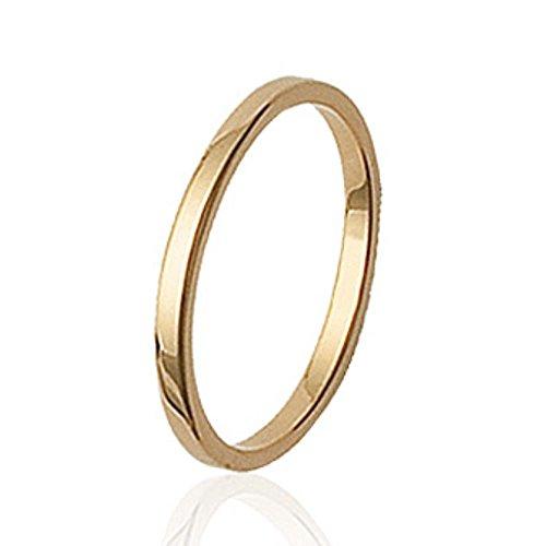 ISADY - Bibiana Gold - Damen Ring - Ewigkeit - 18 Karat (750) Gelbgold - Vorsteckring Ehering Trauring - T 50 (15.9)
