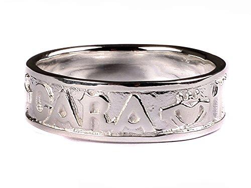 Keltisch Irisch \'Mo Anam Cara My Soul Mate silber mit Claddagh Design Herren Ring