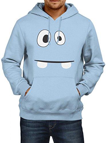 m Monster 02 Premium Hoody   Verkleidung   Karneval Hoodies   Fasching   Herren   Kapuzenpullover, Farbe:Hellblau;Größe:3XL (Billig Narr Kostüme)