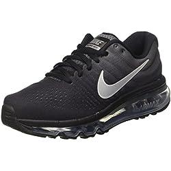 Nike Air Max 2017 (GS), Chaussures de Running garçon, Noir (Black/Summit White-Anthracite), 38.5 EU