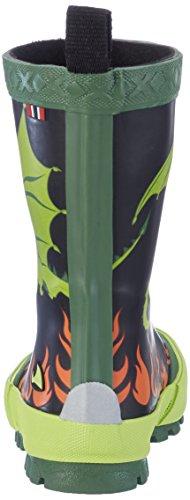 Viking Drage, Bottes de Pluie mixte enfant Noir/vert lime
