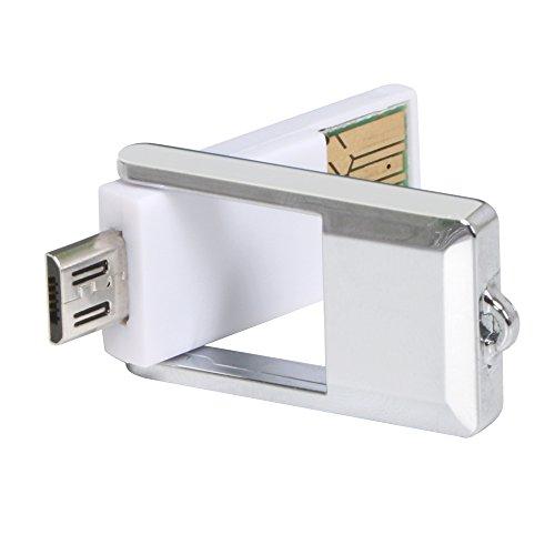 TRIXES Lector de Tarjetas Micro SD con USB para Ordenador y Micro USB