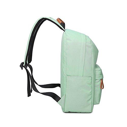 VLike Rücksack Rucksäcke Rucksack Backpack Daypack Schulranzen Schulrucksack Wanderrucksack Schultasche Rucksack für Schülerin Mädchen (Hell Grün) - 4