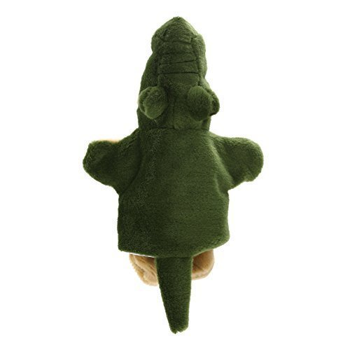 Chinatera Crocodile Alligator Hand Puppet Wild Animal Story Telling Prop Easily Animate Play Glove Soft Fur Velour Doll Plush Toy Free Size Green