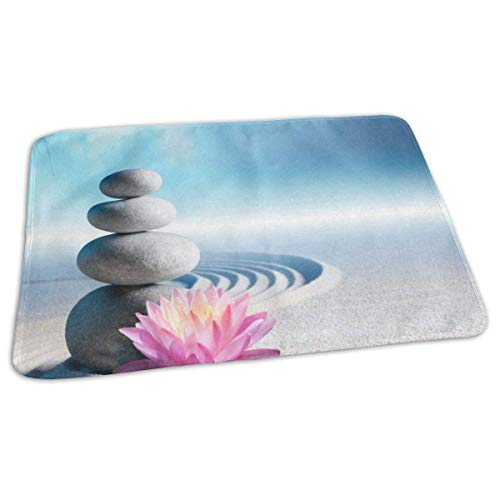 Voxpkrs Changing Pad Zen Stone Lotus Flower Baby Diaper Urine Pad Mat Trendy Kids Mattress Pad Sheet for Any Places for Home Travel Bed Play Stroller Crib Car