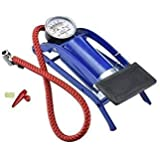 Shoppers Enterprise Metal Blue and Black Imported Portable High Pressure Foot Air Pump Heavy Compressor Cylinder(99S-144…