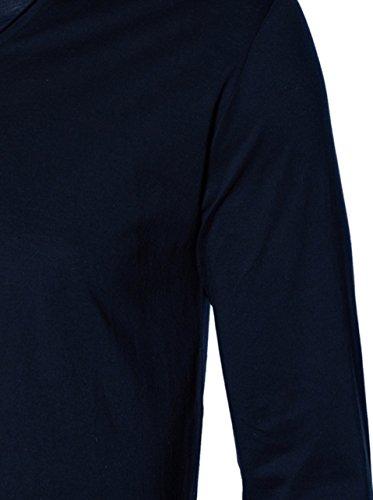 GRETA & LUIS Herren Premium-Langarmshirt aurel in Dunkelblau Marino