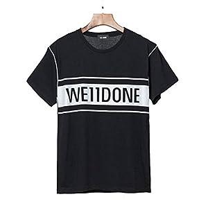 Reflektierendes T-Shirt aus Baumwolle mit Rundhalsausschnitt und Gut Gemustertem Buchstaben, Golden_flower, schwarz, s
