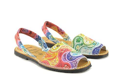 CONBUENPIE Donna 355 Avarcas in stile Minorca Multicolore
