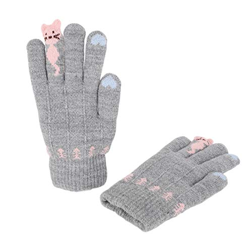 Kinder Touchscreen Handschuhe Fäustlinge Doppelt Warm Strickhandschuhe Fausthandschuhe Verdickte Winterhandschuh Gloves, 5-7 Jahre alt, Herbst Winter Outdoor-Aktivitäten Bedarf | 06941667729733