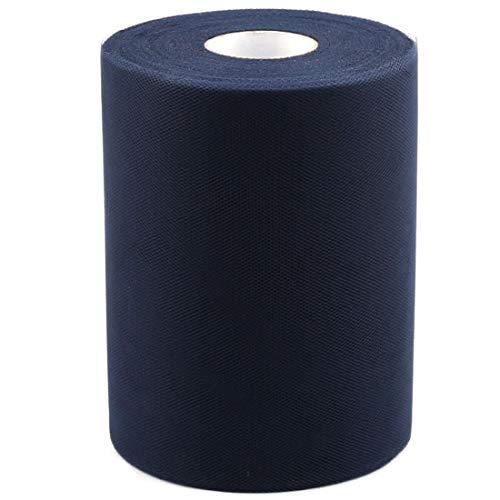 ZCHXD Banquet Wedding Party DIY Tutu Gift Tulle Roll Spool Decor 100 Yards Navy Blue -