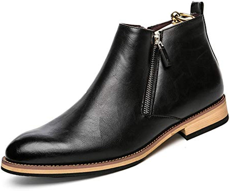 Xiazhi-scarpe Stivaletti da Uomo Leisure Classic High Top Fashion British Style Walking avvio (Coloree   Nero, Dimensione... | La qualità prima  | Sig/Sig Ra Scarpa