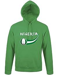 Supportershop Sweatshirt à Capuche Nigeria Homme, Vert, FR : 2XL (Taille Fabricant : XXL)