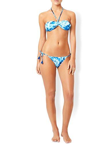 Accessorize Damen Brazil-Bikinihose mit Batikmuster Blau