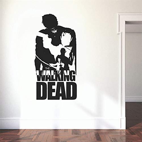 jiushizq Dekoration Zubehör Walking Dead Wandtattoo wasserdichte Tapete Wandbild Cool Boy Dedroom Wohnkultur Aufkleber Rosa 120 x 58 cm (Watch Walking Dead)