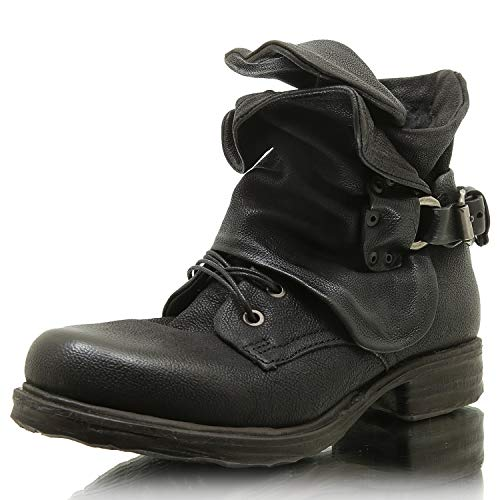 A.S.98 259211-0102 Damen Winter Stiefelette Biker Boots (38)