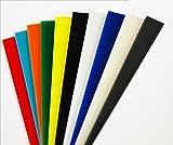 Perspex Acrylglasplatte | 18 Farben zur Auswahl | 3mm Stark | Größe A4 | 297x210mm | Kunststoff für Modellbau, Haus und Garten, Schriftfarbe:transparent