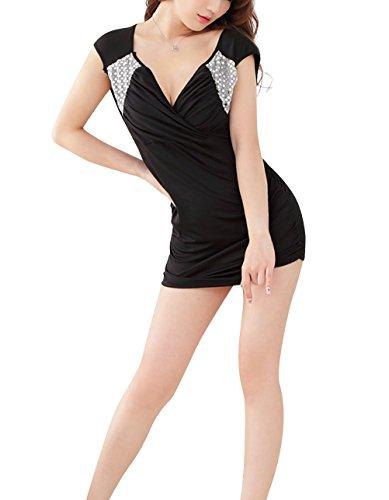 Paplan Damen Brustgurt Kreuz Kostüme Black Fashion Schlanke Cosplay Leistung Rassig (Rassig Kostüme)