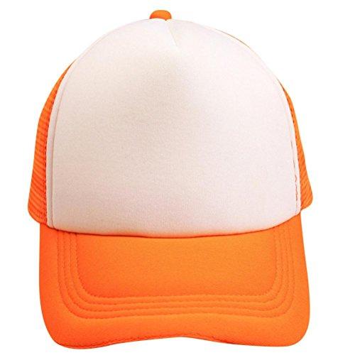 Herren Newsboy Sommer Xxl Hüte (UFACE Männer und Frauen Neutral Kontrast Farbe Caps Baseball Cap Hip Hop Cap (Orange))