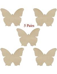 5 pares Cosfan Mini piel de mariposa Desechables pasties Nipple Cover lencería en sujetador