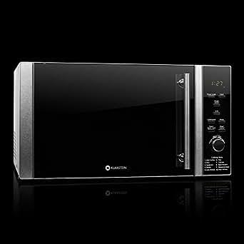 Klarstein TK23Luminance-Prime Four micro-ondes compact 28l avec fonction grill Puissance micro-ondes 900W et grill 1000W Noir