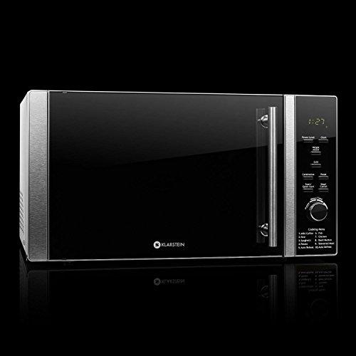 Klarstein TK23-Luminance-Prime Mikrowelle / 28 L Garraum / kompakter Mikrowellenofen mit Grillfunktion / 900 W Mikrowellen und 1000 W Grillleistung / schwarz