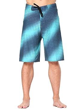Clothin - Pantalones cortos para hombre, elásticos, de secado rápido, hombre, verde claro, 32