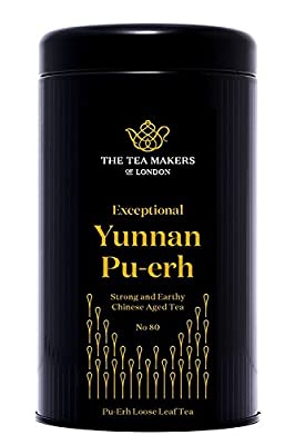 The Tea Makers of London Yunnan Pu-Erh (Fermented Dark Tea) 125 g Caddy