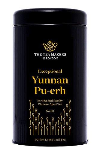 The Tea Makers of London Pu Erh Yunnan Tee von prämiertem Teekontor Abnehmtee Geschenkidee Teekenner, 1er Pack (1 x 125 g)