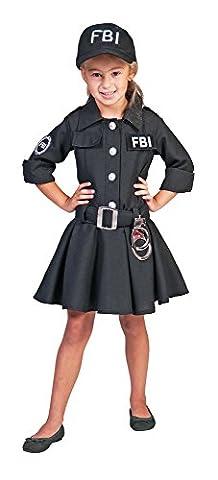 FBI Agent Kostüm Polizistin für Mädchen Gr. 128 (Fbi-kostüm Für Jungen)