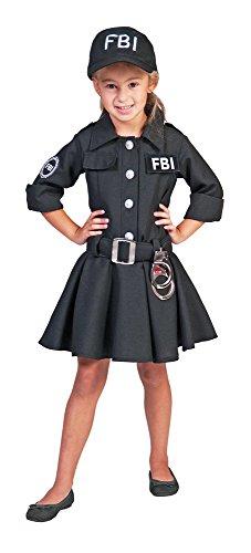 FBI Agent Kostüm Polizistin für Mädchen Gr. 128 (Fbi Kostüm Für Mädchen)