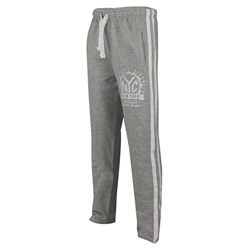 Mens NYC Logo Tracksuit Jogging Bottoms Fleece Joggers for sale  Delivered anywhere in UK