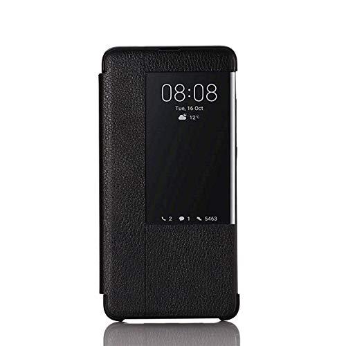 Caler Hülle Kompatibel Huawei Mate 9 Hülle,Smart Case-Ansicht, Spiegel Cover Clear View Crystal Case Flip Intelligenten Schutzhülle Handyhülle etui Huelle mit Frau Mirror Tasche Ledertasche