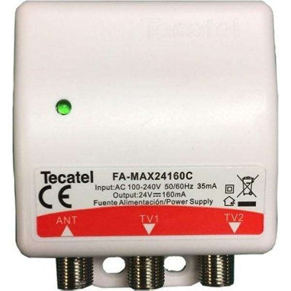 Tecatel - Fuente de alimentación 24V, 160mA, 2 sal.: Amazon ...