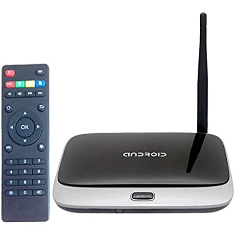 High Definition 1080P Android 4,4 Smart TV Box con Remote Control: RK3188T, procesador Quad-Core, 2GB de RAM, 8 GB de la comunidad romaní RJ45 HDMI compatible con Wi-Fi