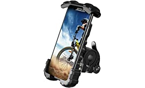 Lamicall Bike Phone Holder - Universal Adjustable Motorbike Phone Holder, Motorcycle Phone Mount Stand for Phone 11 Pro, Pro Max Xs XR 8 X 8P 7 7P 6S, Samsung S10 S9 S8, Huawei, All 4.7-6.8 Devices