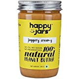 Happy Jars Natural Jaggery Creamy Peanut Butter, 290 Gm