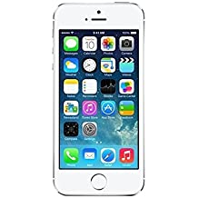 "Apple iPhone 5S - Smartphone libre iOS (pantalla 4"", cámara 8 Mp, 16 GB, Dual-Core 1.3 GHz, 1 GB RAM), Plateado (Reacondicionado Certificado)"