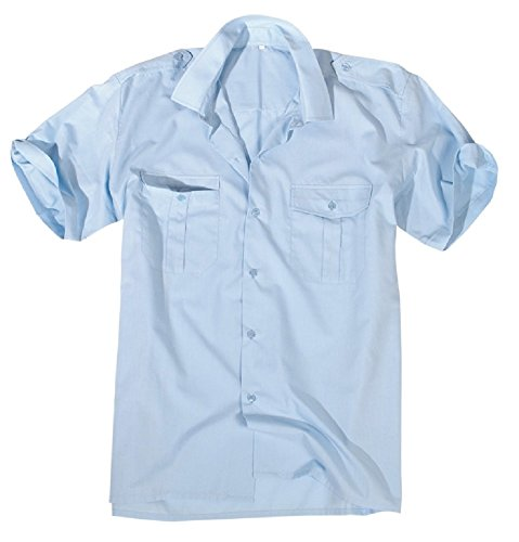 feuerwehrhemd Diensthemd 1/2 Arm hellblau M