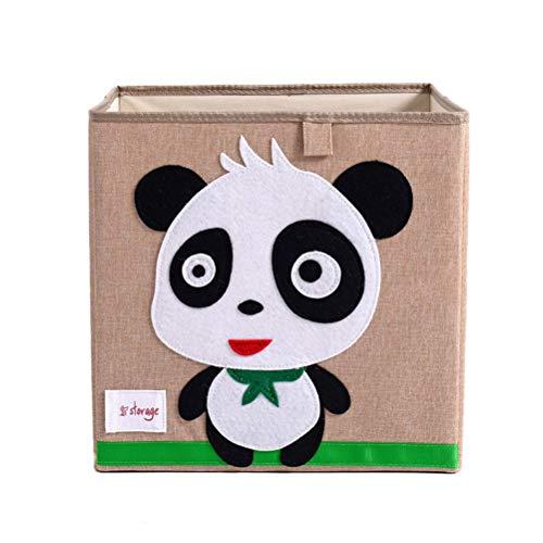 Kinder Kinder Spielzeug Aufbewahrungsbox Umweltfreundliche Stoff Lagerung Würfel Origanizer (Panda)