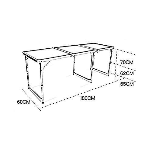 XINKONG Tisches Klapptisch im Freien Klapptisch tragbarer Esstisch (Color : Blue) (Weißes Podest, Beistelltisch)