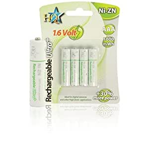 HQ - HQ-NIZN-AAA-01 - piles rechargeables pour NI-ZN chargeur - 1.6Volt AAA HR03 100mWh