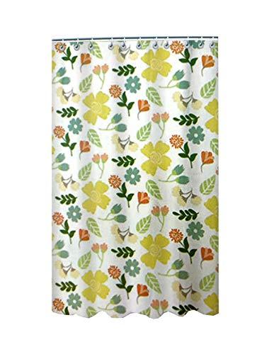 Best Purchase Cortina de baño impermeable y resistente al baño original diseño - Cortina de Ducha elegante de color – Cortinas de ducha lavables para el baño (flores)